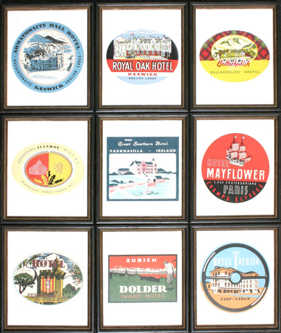VINTAGE TRAVEL LABELS/9
