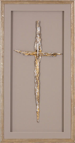 CROSS BARK  GOLD/SILVER LARGE