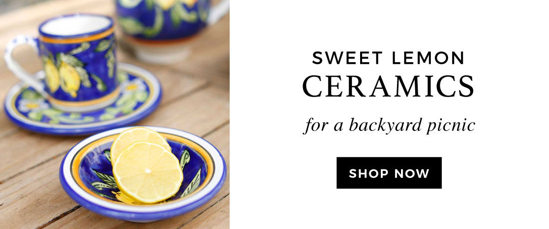Fair Trade Sweet Lemon Print Ceramics