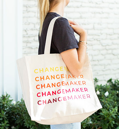 Changemaker Tote And Candle