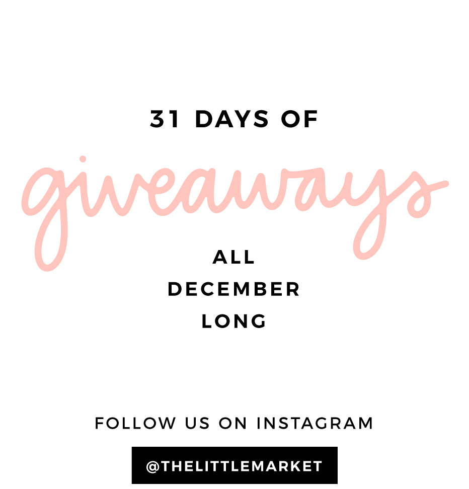 31 Days of Giveaways in December