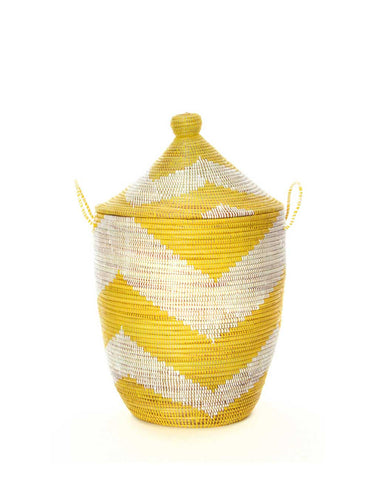 Whimsical Hamper - Yellow Chevron