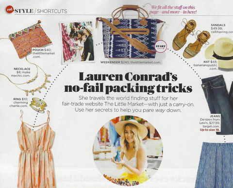 Redbook Magazine Lauren Conrad The Little Market