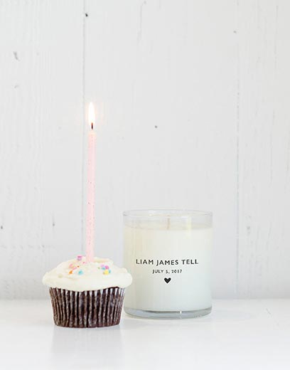 Candle from Lauren Conrad's Nursery