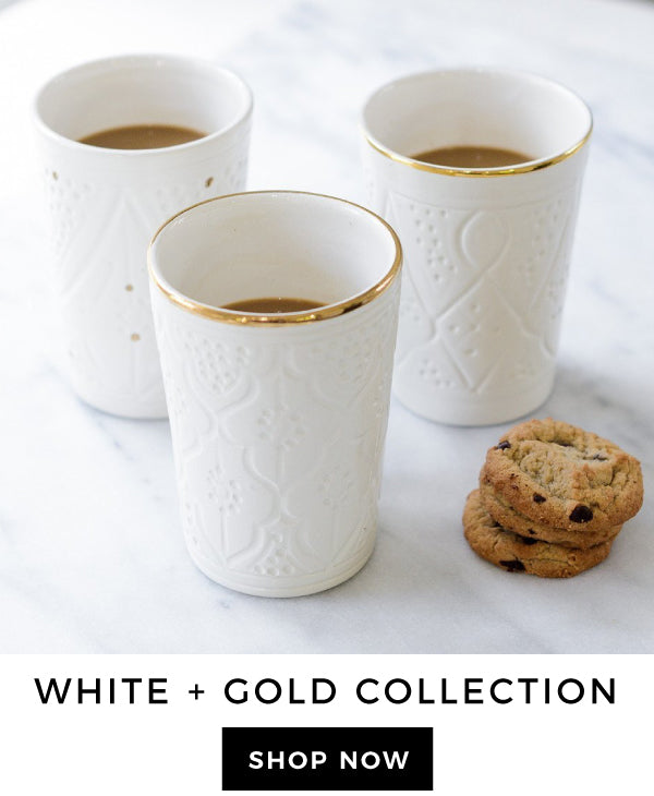 White & Gold Ceramics