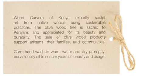 Wood Carvers of Kenya Hangtag