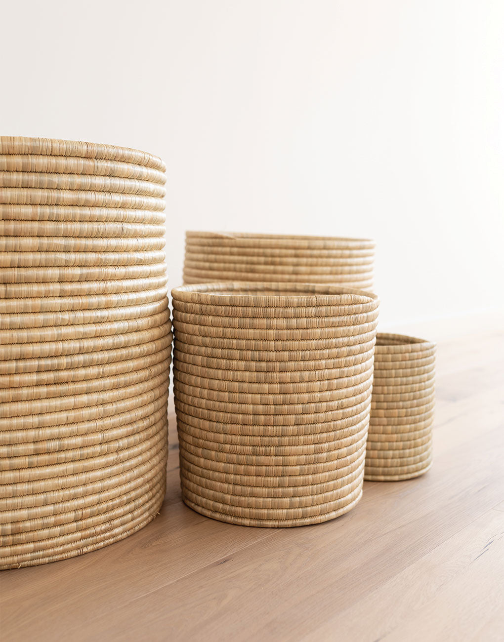 Natural Woven Bath Bin | The Little Market