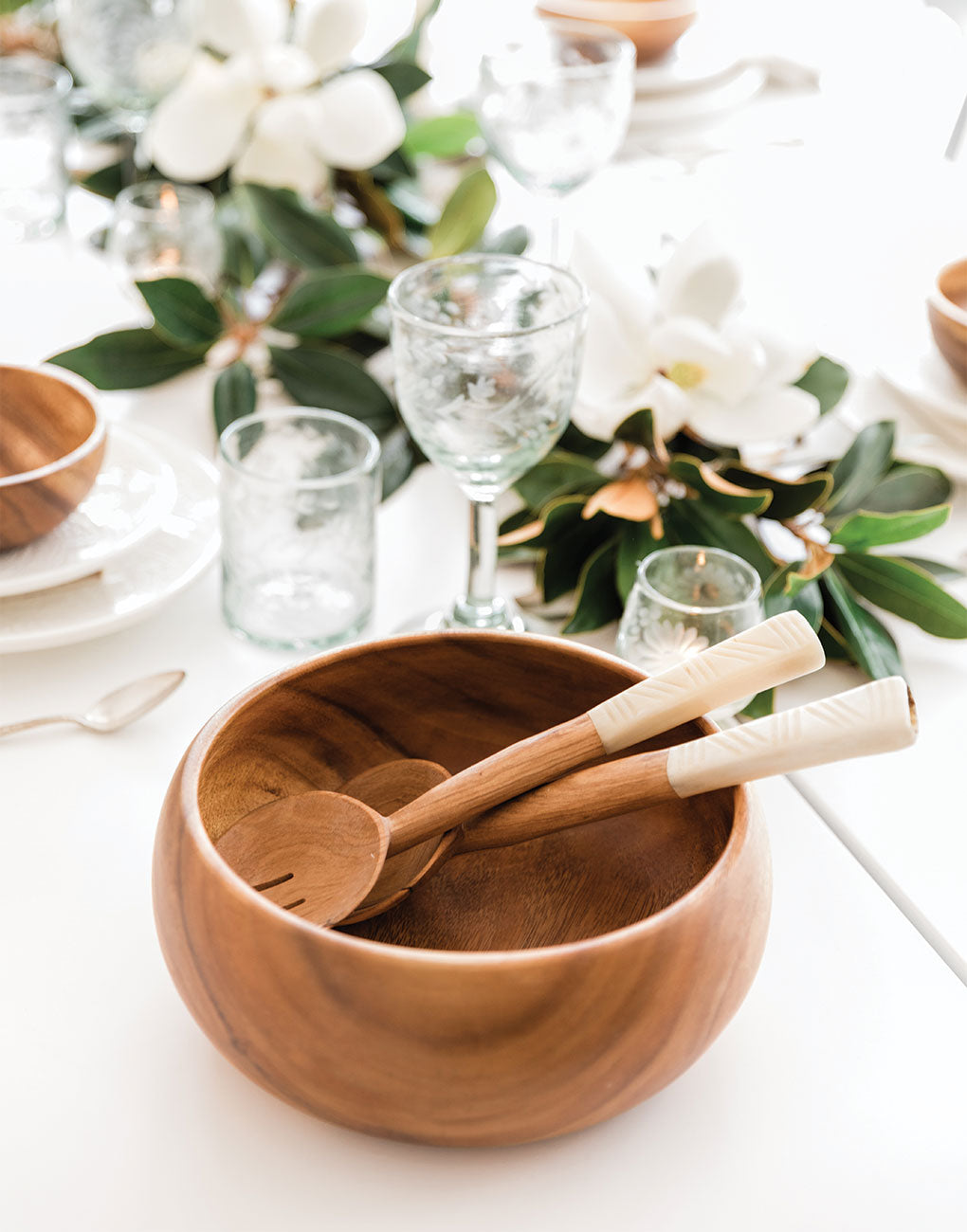 Acacia Wood Salad Bowl | The Little Market