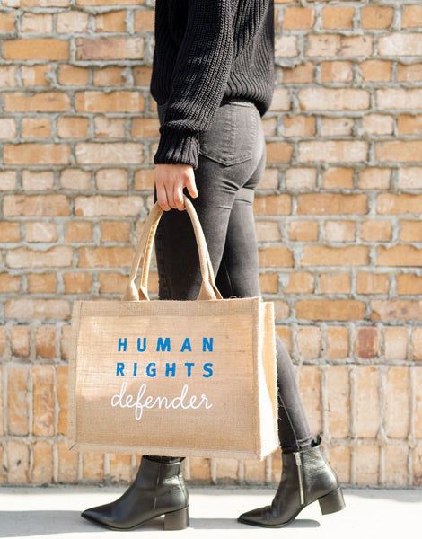 Human Rights Watch x The Little Market Charity Collaboration Tote Bag