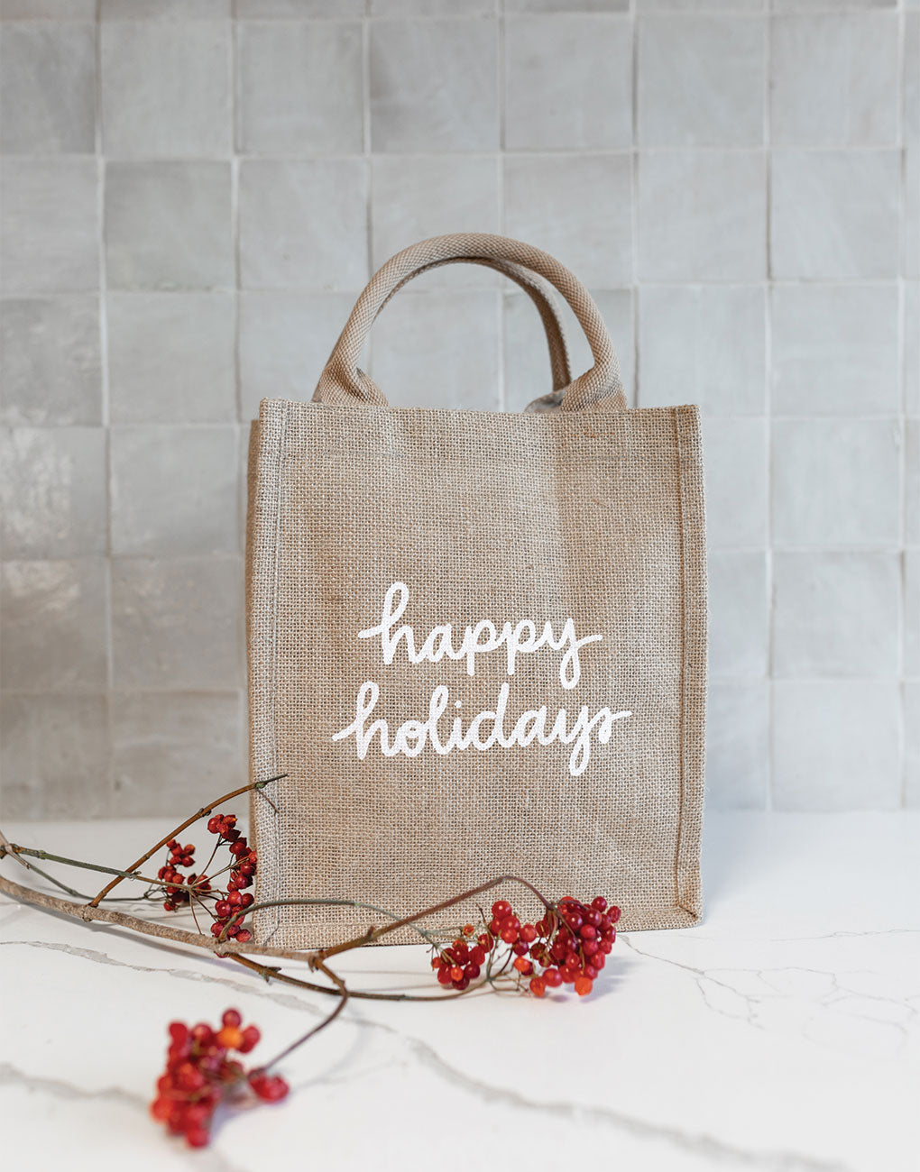 Happy Holidays Reusable Gift Totes | The Little Market