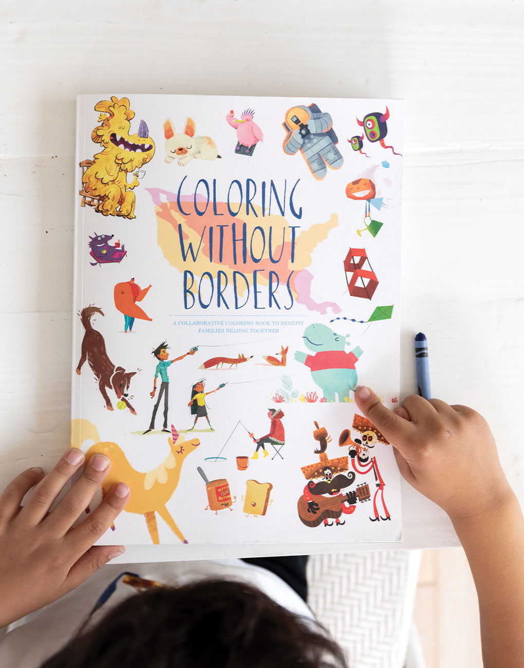 Coloring Without Borders Coloring Book Supporting Separated From Their Families
