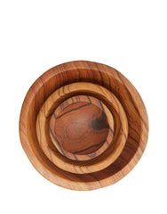 Fair Trade Hand-Carved Natural Olive Wood Condiment Bowls