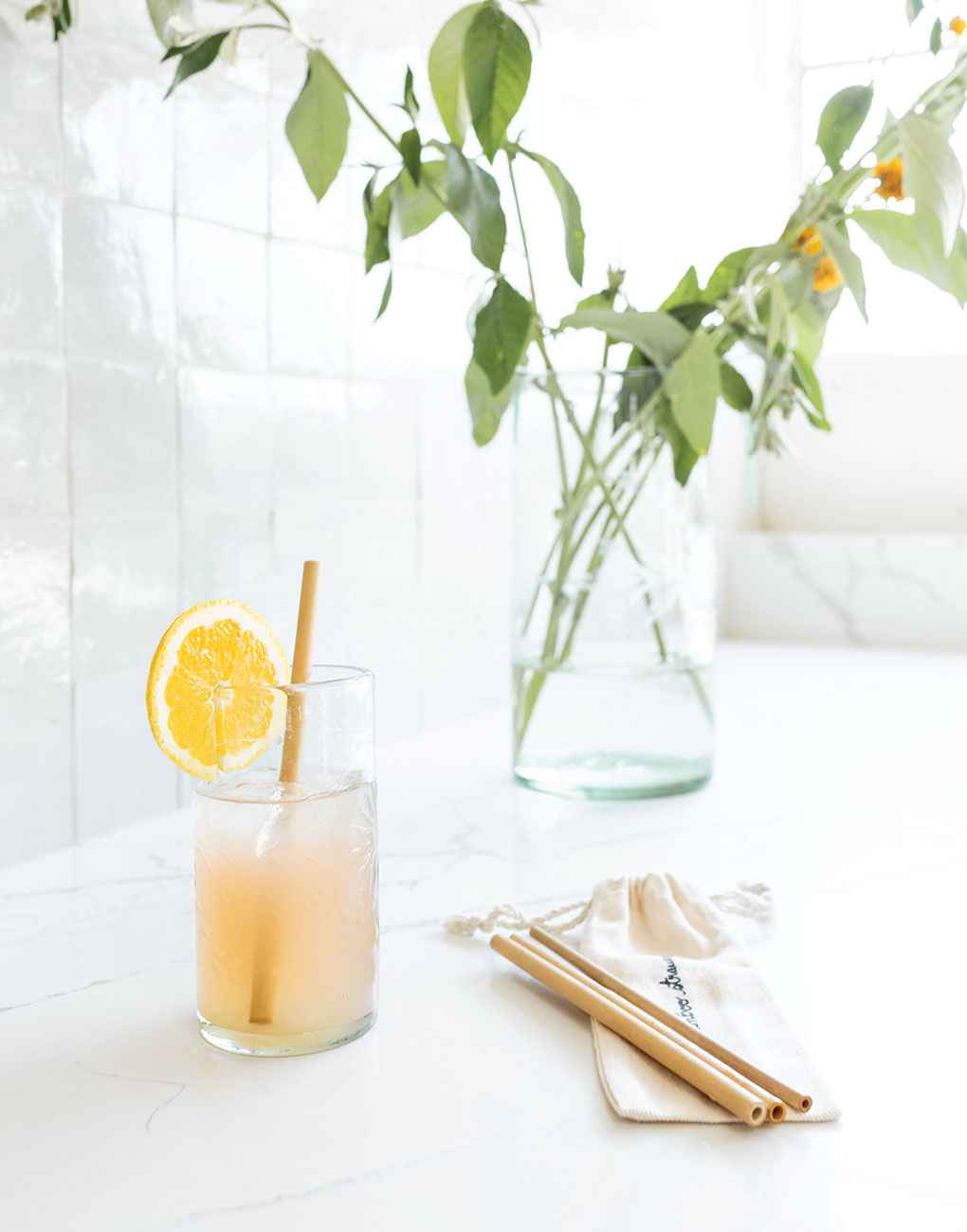 Reusable Bamboo Straws | The Little Market