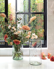 Large Clear Flower Glass Vase | The Little Market
