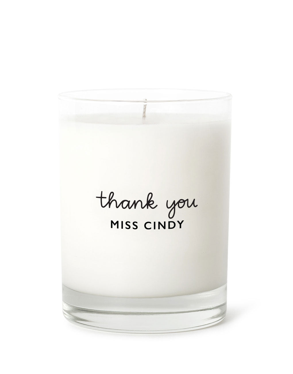 Personalized Thank You Candle | The Little Market