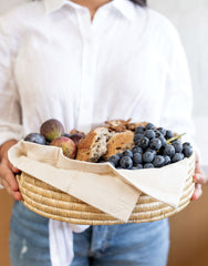 Round Woven Serving Tray - Natural | The Little Market