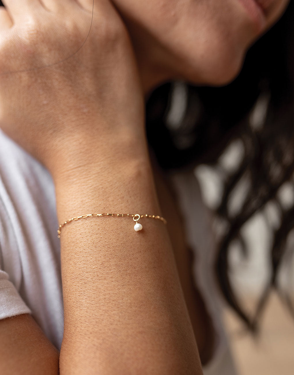 Pearl Bracelet - White | The Little Market