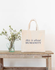 Canvas Tote - This Is About Humanity (Navy) | The Little Market
