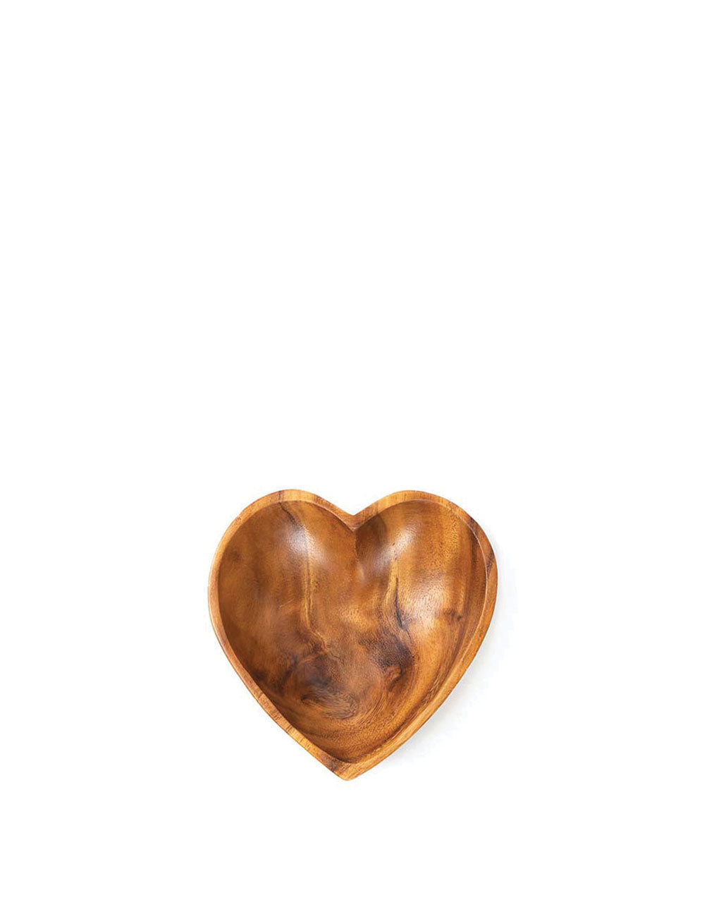 Small Acacia Wood Heart Bowl | The Little Market