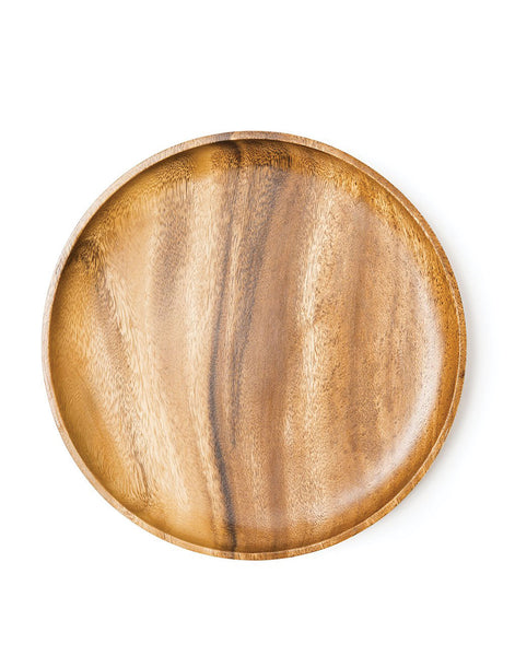 Acacia Wood Oversized Dinner Plate