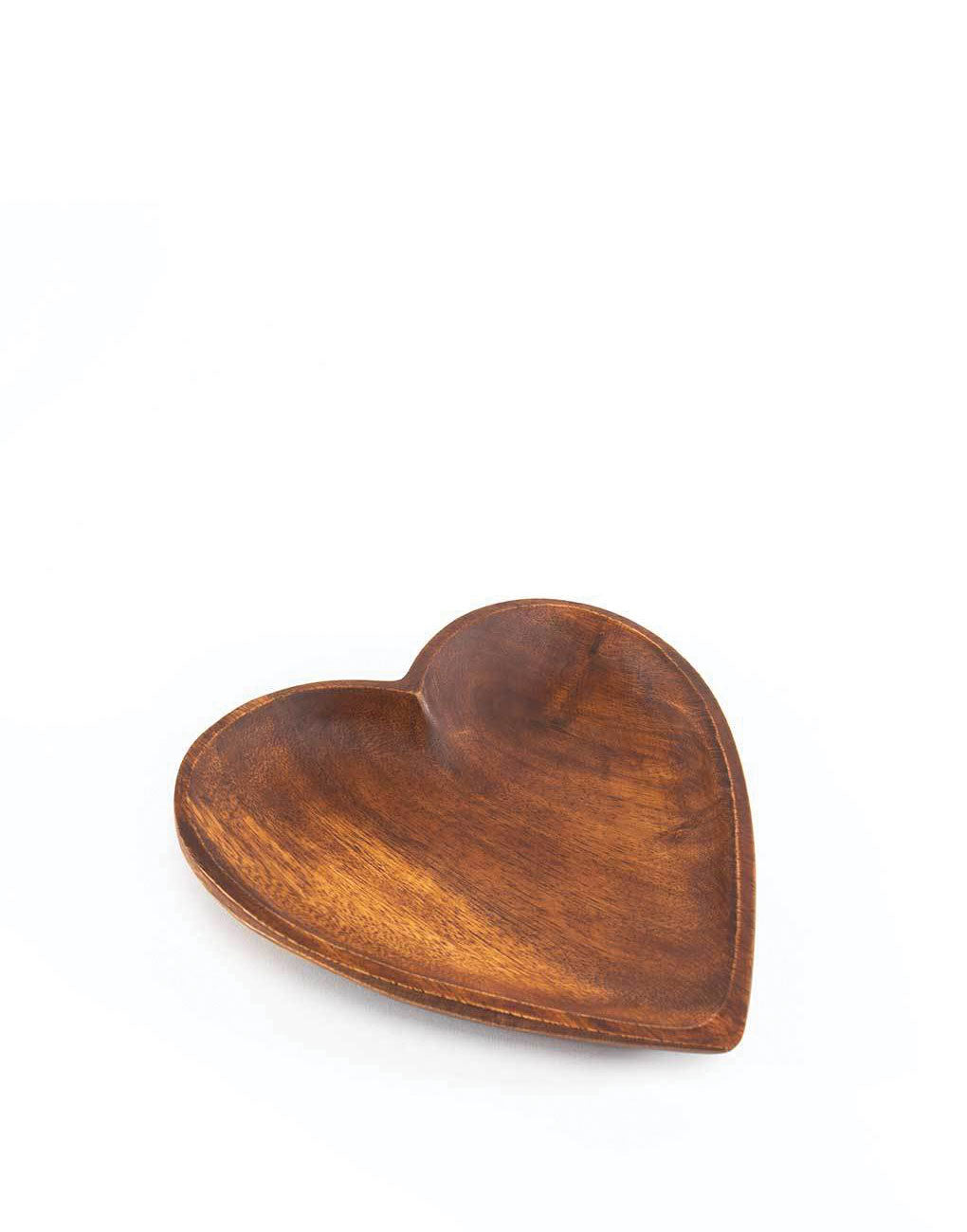 Large Acacia Wood Heart Tray | The Little Market