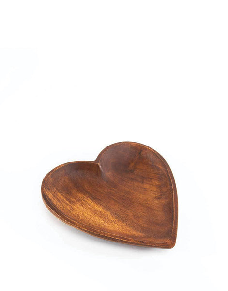 Acacia Wood Heart Tray