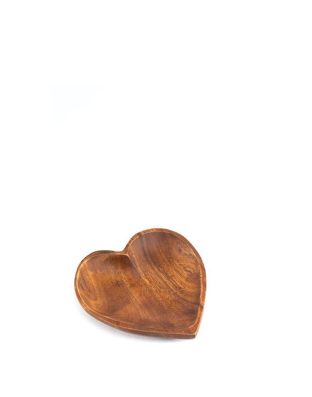 Medium Acacia Wood Heart Tray | The Little Market