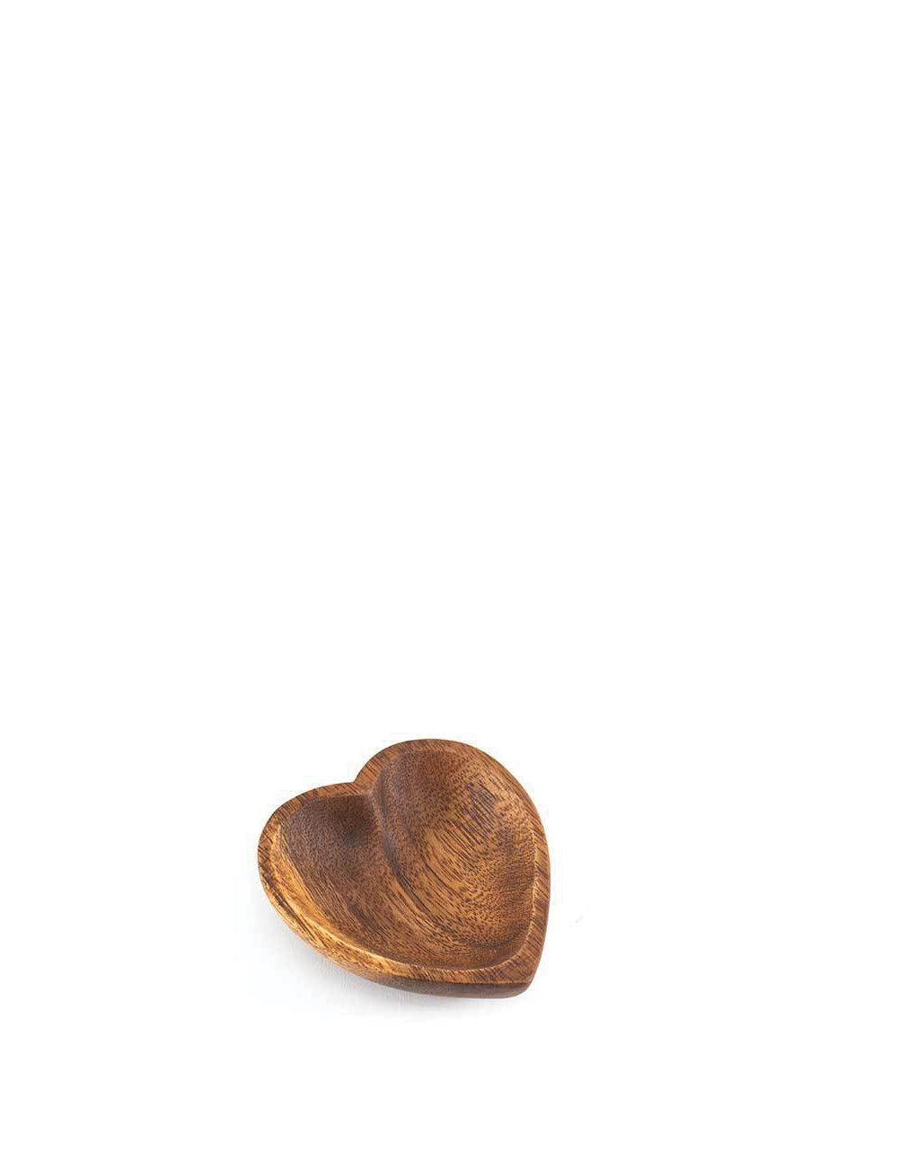 Small Acacia Wood Heart Tray | The Little Market