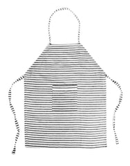 Fair Trade, hand-woven black & white striped apron