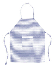 Fair trade, hand-woven blue & white striped apron