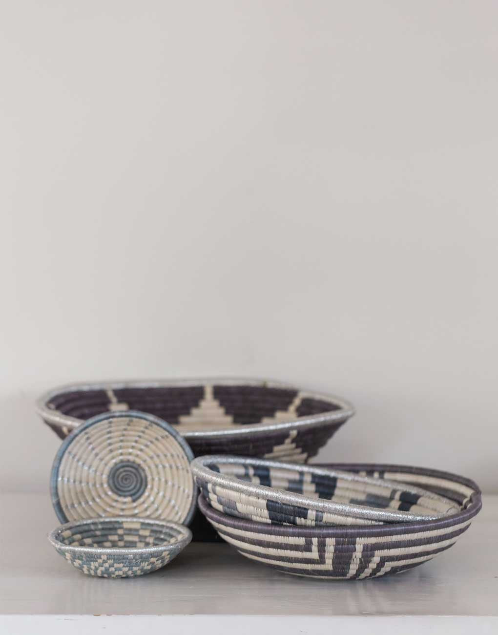 ... Fair Trade Hand-woven Large ... & Fair Trade Large Harmony Bowl - Gray | The Little Market