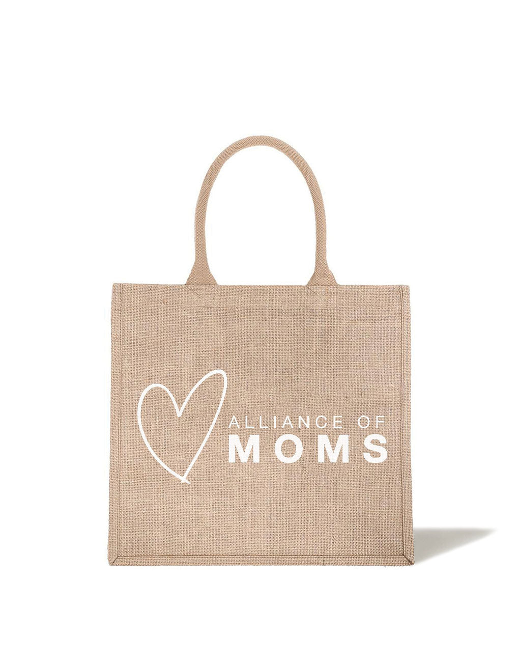 Large Alliance Of Moms Reusable Tote In White Font | The Little Market