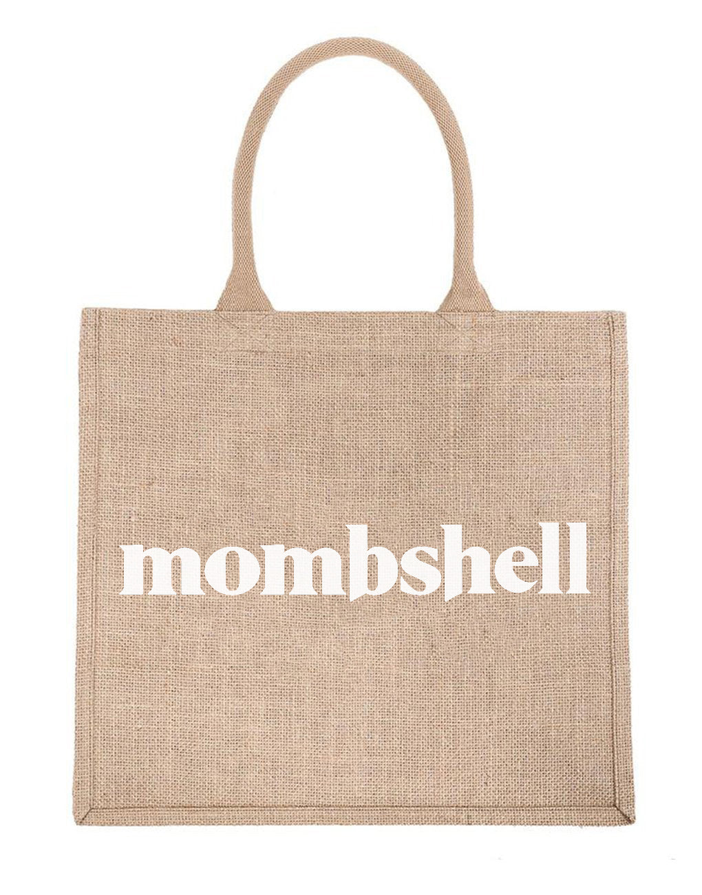 Large Mombshell Reusable Tote In White Font | The Little Market