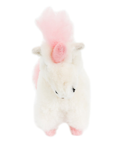 Fair Trade Handmade Alpaca Hair Stuffed Unicorn