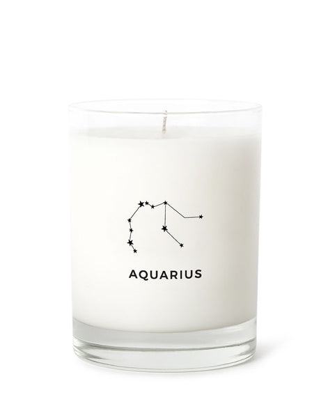 Candle Label - Aquarius Constellation