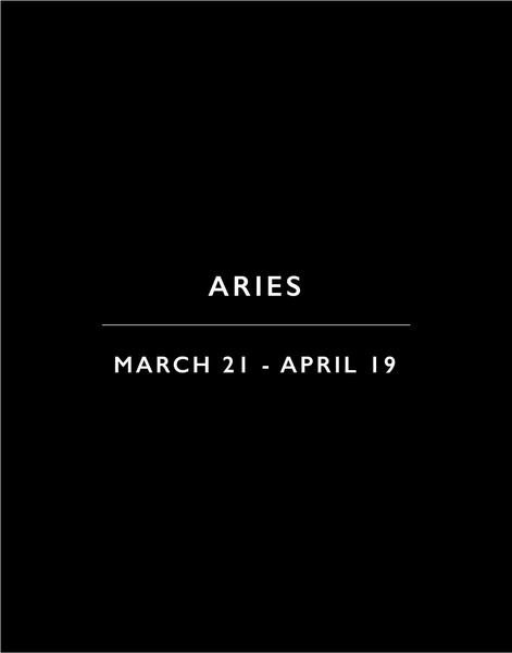 Candle Label - Aries Constellation