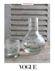 Clear Bureau Pitcher with Glass