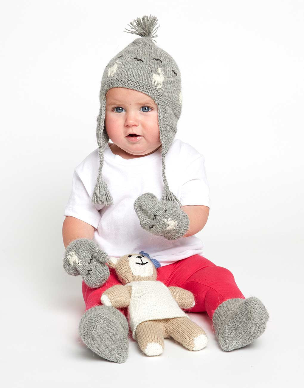 Fair Trade Baby Beanie - Gray Alpaca