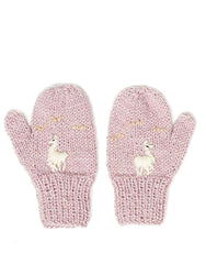 Fair Trade Baby Knit Mittens - Lavender Alpaca