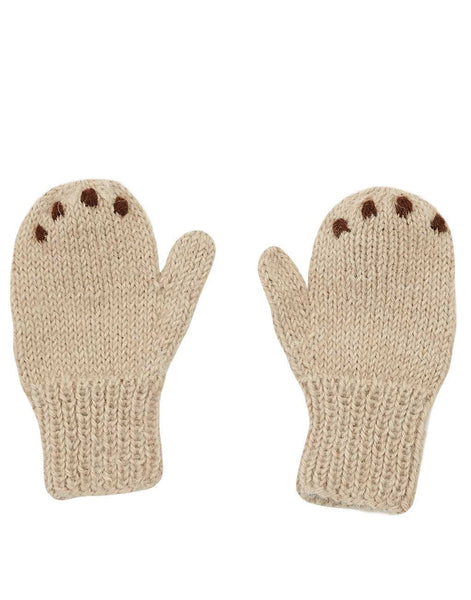 Little Bear Baby Mittens - Tan