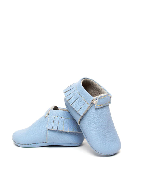 Baby Moccasins - Dusty Blue