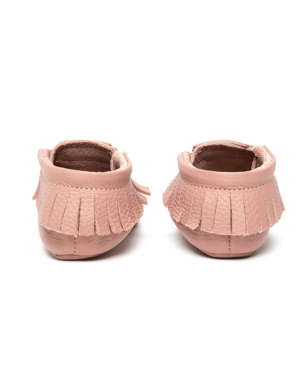 Dusty Rose Baby Moccasins | The Little Market