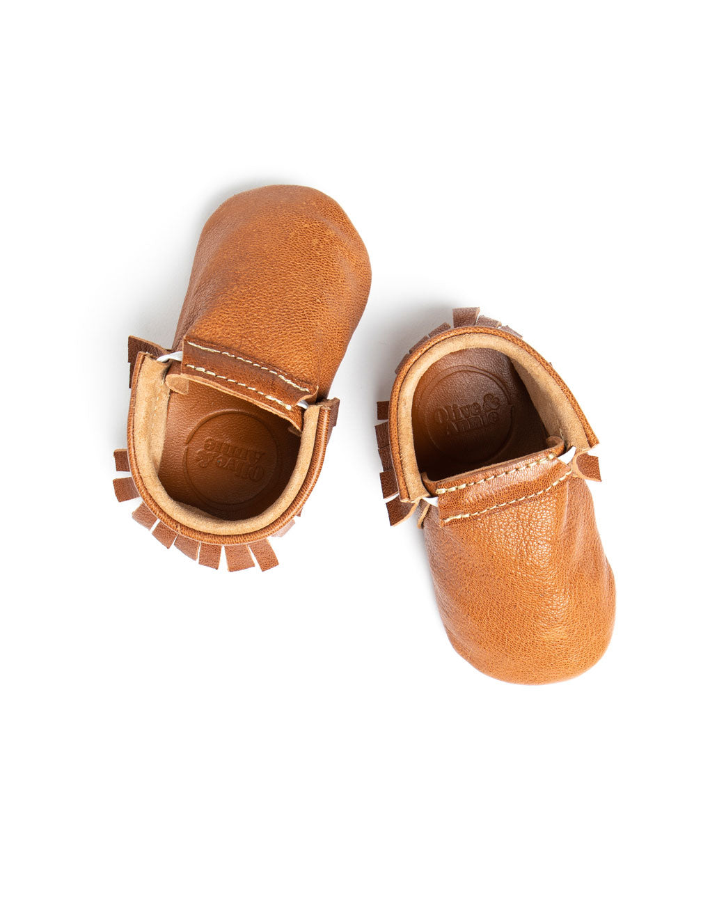 Tan Baby Moccasins | The Little Market