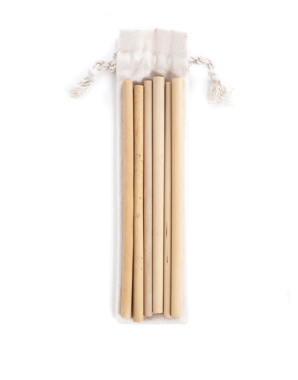 Reusable Bamboo Straws (Set of 6)
