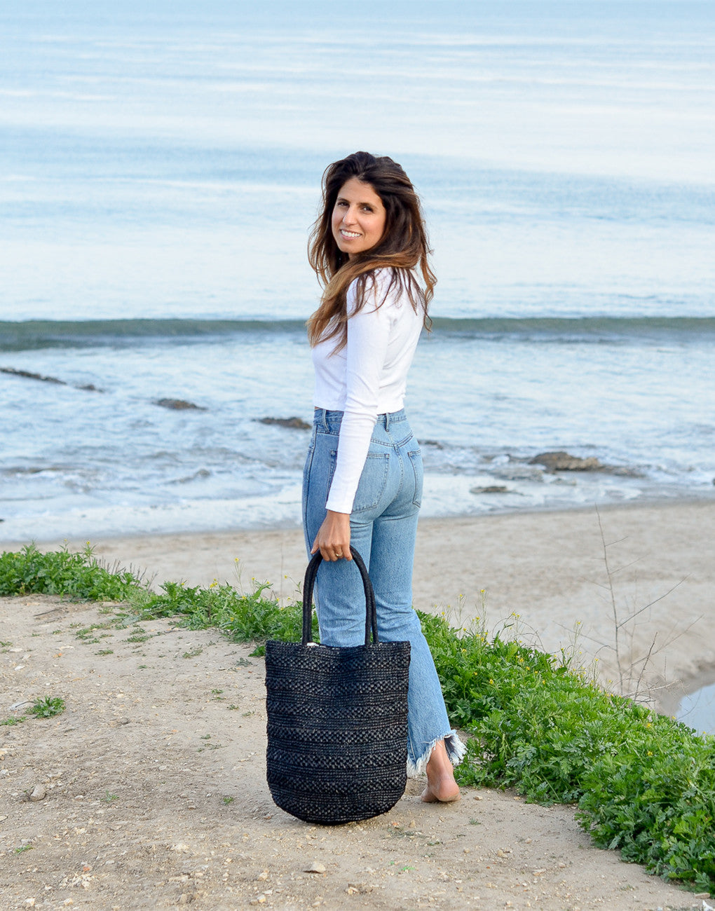 Fair Trade, Artisan Made, Beach Tote, Black
