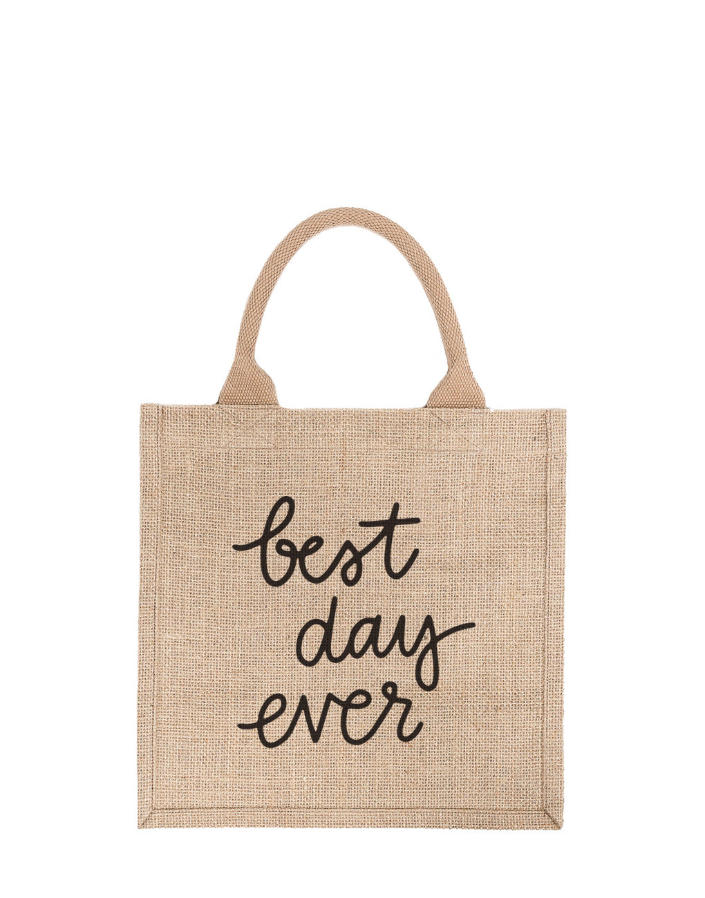 Large Best Day Ever Reusable Gift Tote In Black Font | The Little Market