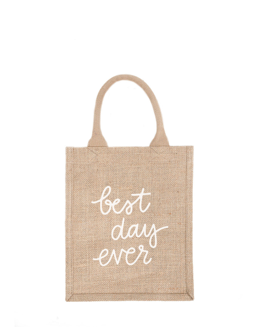 Medium Best Day Ever Reusable Gift Tote In White Font | The Little Market