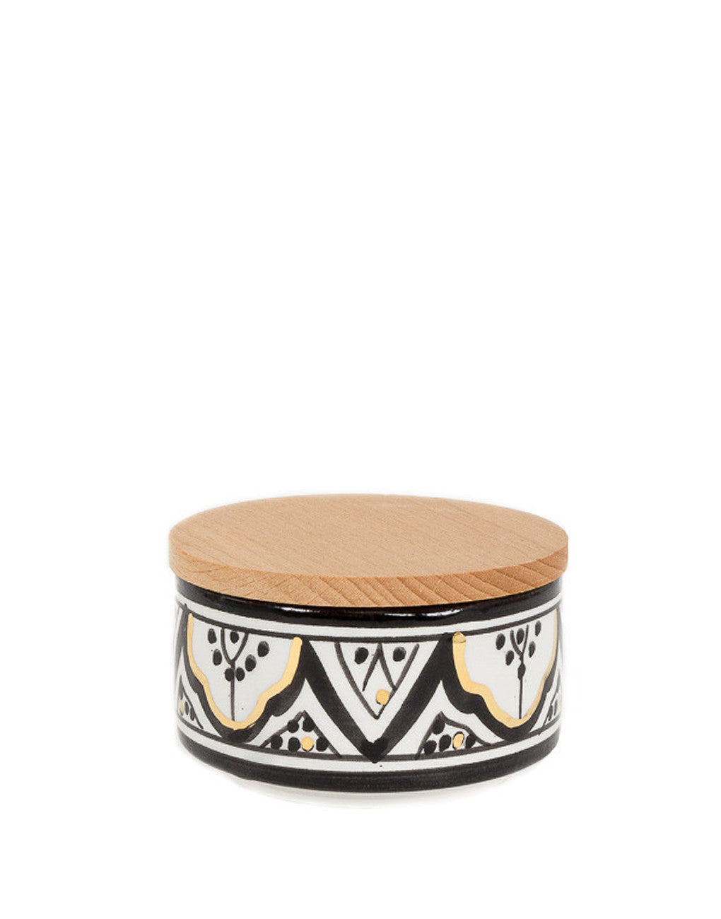 Fair Trade, Handmade Moroccan Ceramic Box, Black