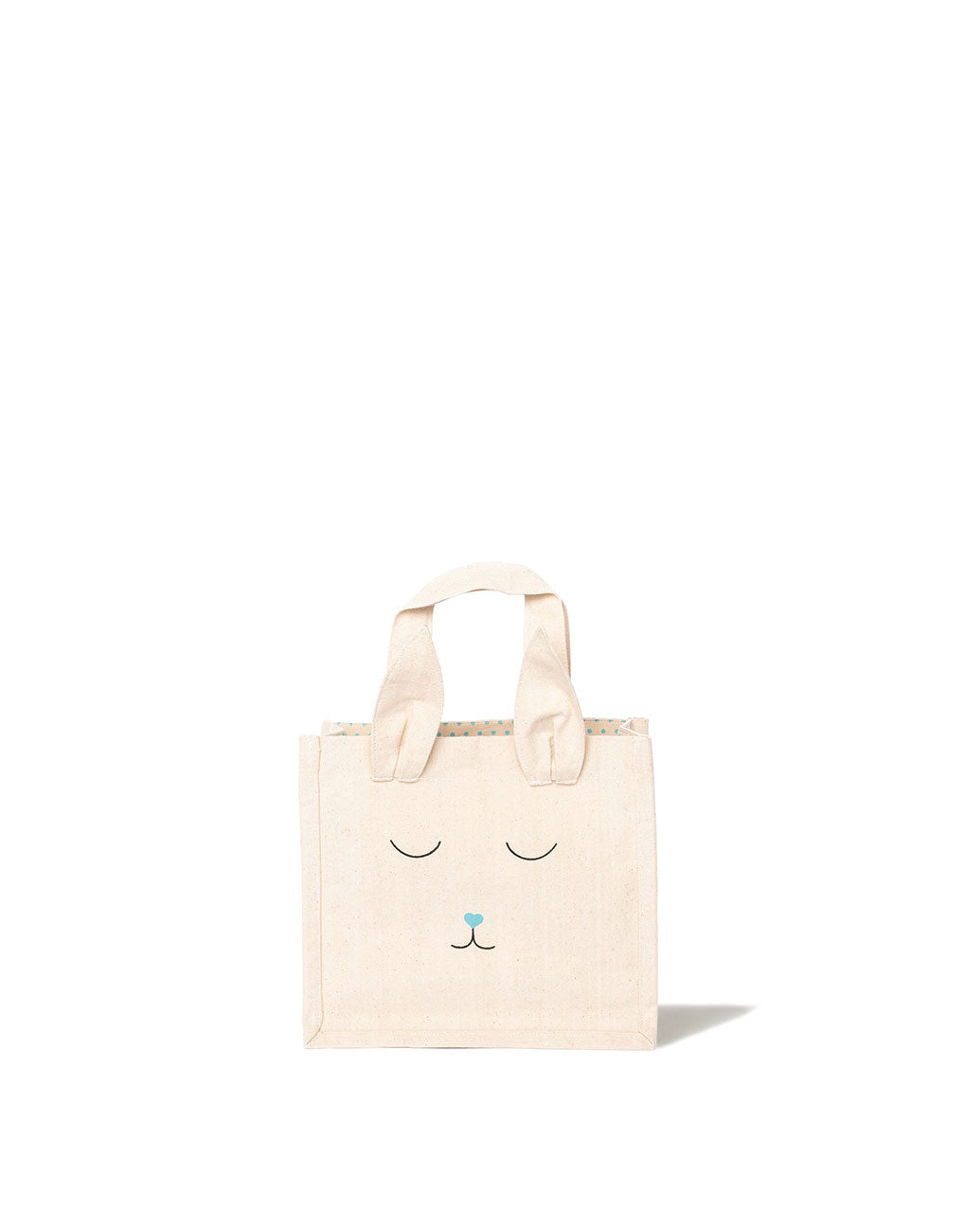Canvas Bunny Tote - Blue | The Little Market