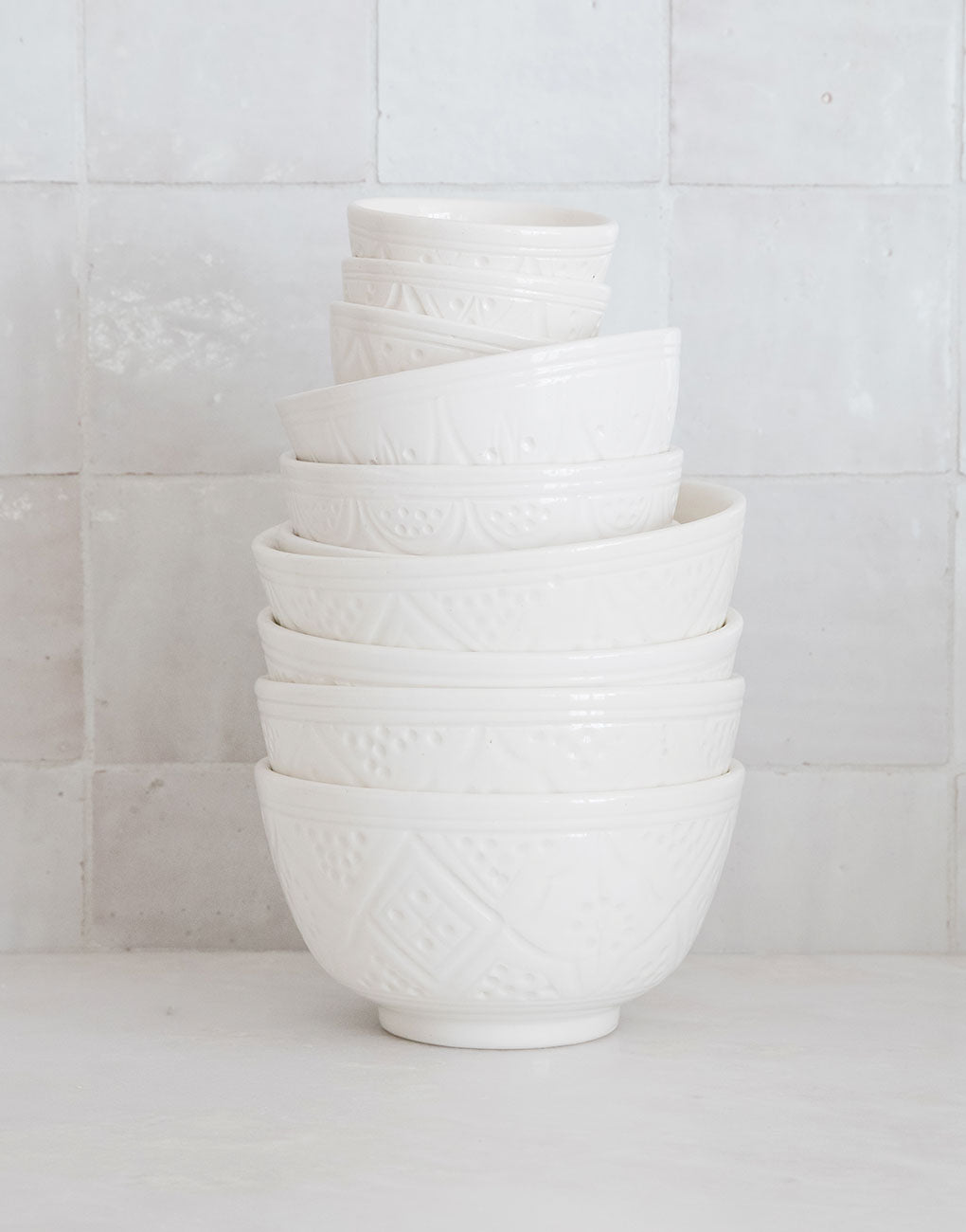 Ceramic Salad Bowl - White | The Little Market